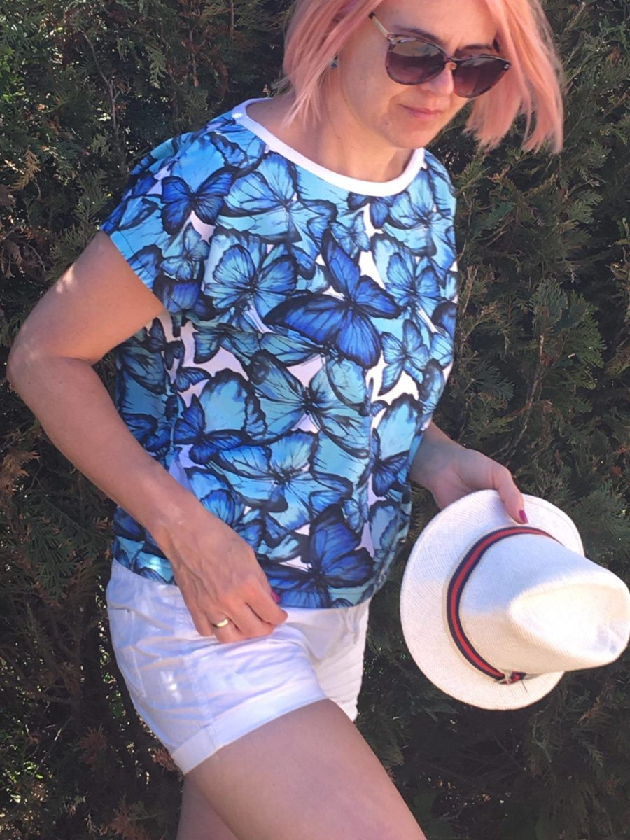 bluzka na lato z krótkim rękawem