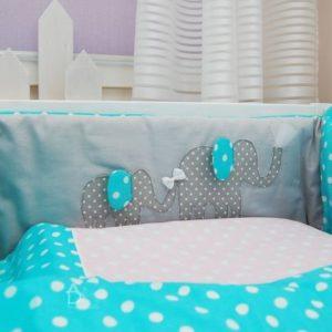 osłonka łóżeczka